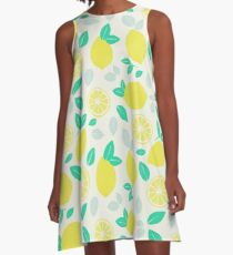 Summer Lemon Pattern A-Line Dress