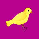 ADORABLE YELLOW BIRD by VegShop