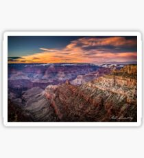 Sunset over Grand Canyon Sticker
