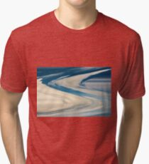 Blue And White Swirls Tri-blend T-Shirt