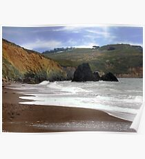 The Black Sea Stacks of Rodeo Beach Poster