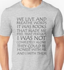 We Live and Breathe Words Slim Fit T-Shirt