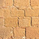 Close up view of an ancient smooth textured brick wall by Sergey Orlov