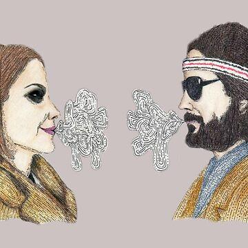 Margot and Richie Tenenbaum by greyhoundredux