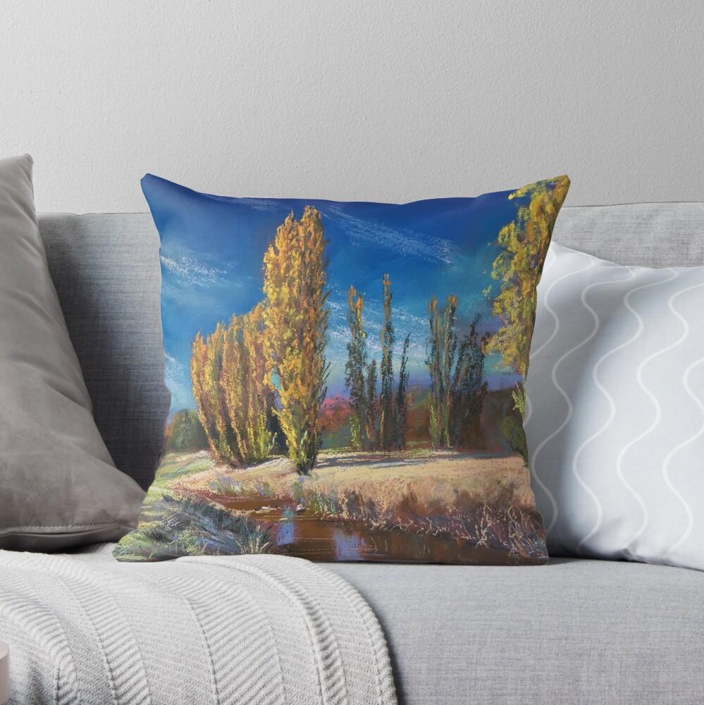 'Autumn - Adelong Creek' Throw Pillow