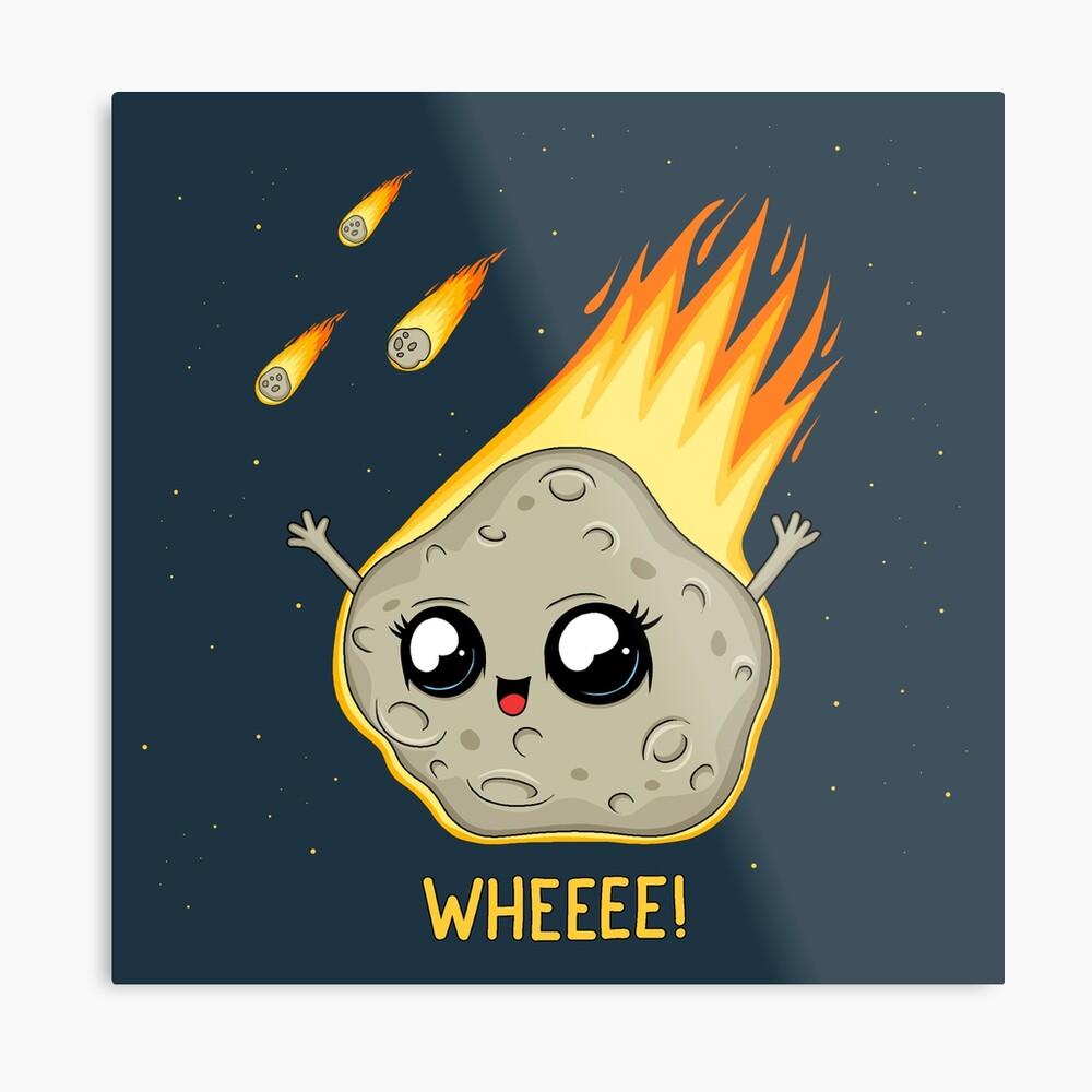 Cute Kawaii Asteroid Metal Print