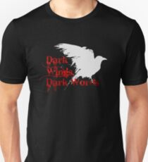 Dark Wings, Dark Words Unisex T-Shirt
