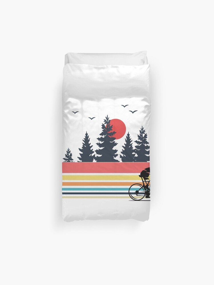 Vintage Retro Bicycle Cycling Mountain Bike Outdoor Cyclist Gifts | Duvet  Cover