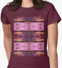 Snow setting hill Womens Fitted T-Shirt