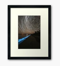 Bioluminescence with Star Trails Framed Print