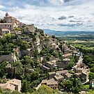 The castle and stone houses of Gordes village, Provence, France by Sergey Orlov