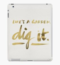 Dig It – Gold Ink iPad Case/Skin