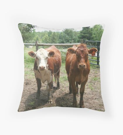 We're Vegetarians, How About You? Throw Pillow