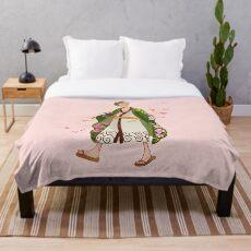 Blossom Samurai Throw Blanket