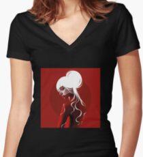 Noor Fitted V-Neck T-Shirt