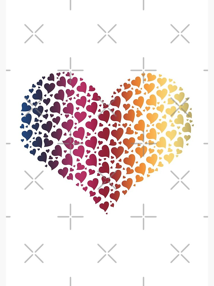 Heart of Hearts Linear Gradient (Clear/White) by jrbactor