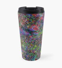 Spirals of particles (abstract psychedelic art) Travel Mug