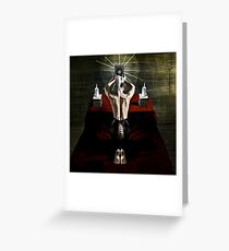 prayer/scarifice Greeting Card