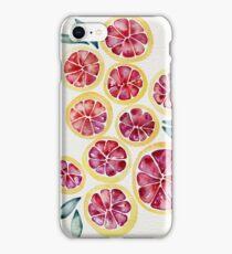 Sliced Grapefruits Watercolor iPhone Case/Skin