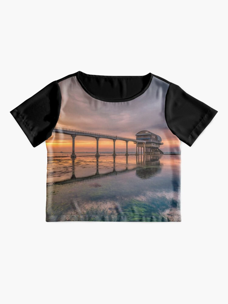 Alternate view of Bembridge Lifeboat Station Sunset Chiffon Top