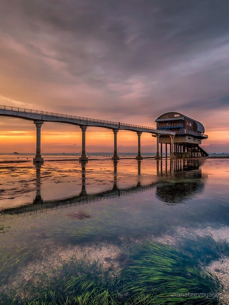 Bembridge Lifeboat Station Sunset by manateevoyager