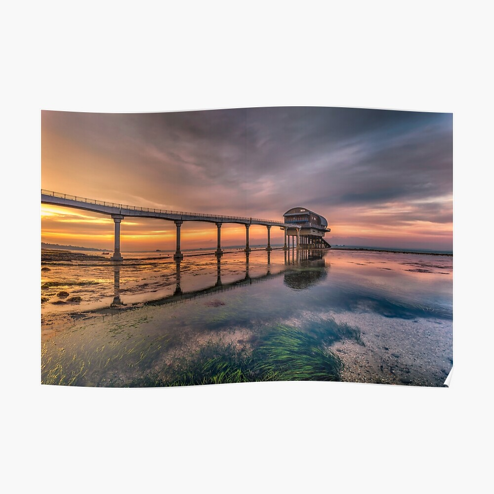 Bembridge Lifeboat Station Sunset Poster