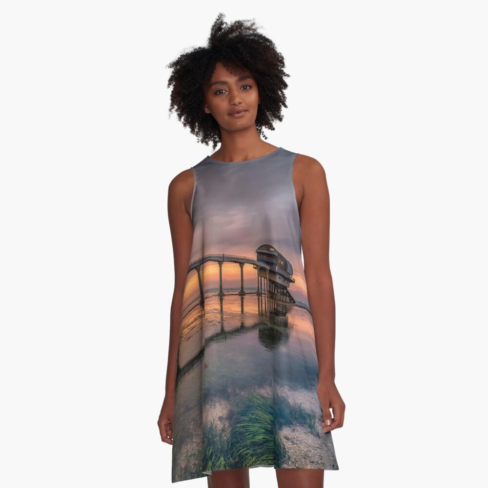 Bembridge Lifeboat Station Sunset A-Line Dress