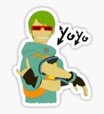 Yo-Yo Flat Sticker