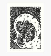 Wandering 50: grayscale Art Print