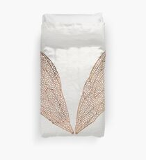 Cicada Wings in Rose Gold Duvet Cover