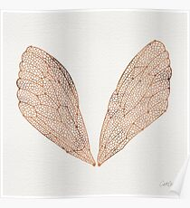 Cicada Wings in Rose Gold Poster