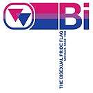 The Bisexual Pride Flag And Symbol by BendeBear