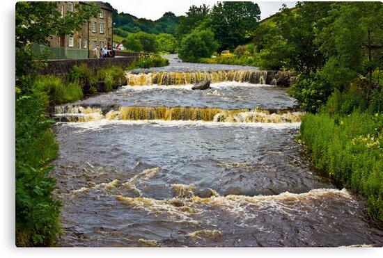 Gayle Mill Force (Gayle Beck) - Hawes by Trevor Kersley