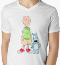 Doug and Porkchop Men's V-Neck T-Shirt