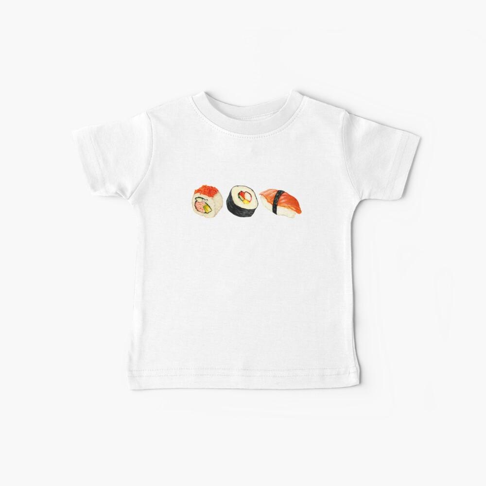 Sushi Pattern - Orange Baby T-Shirt