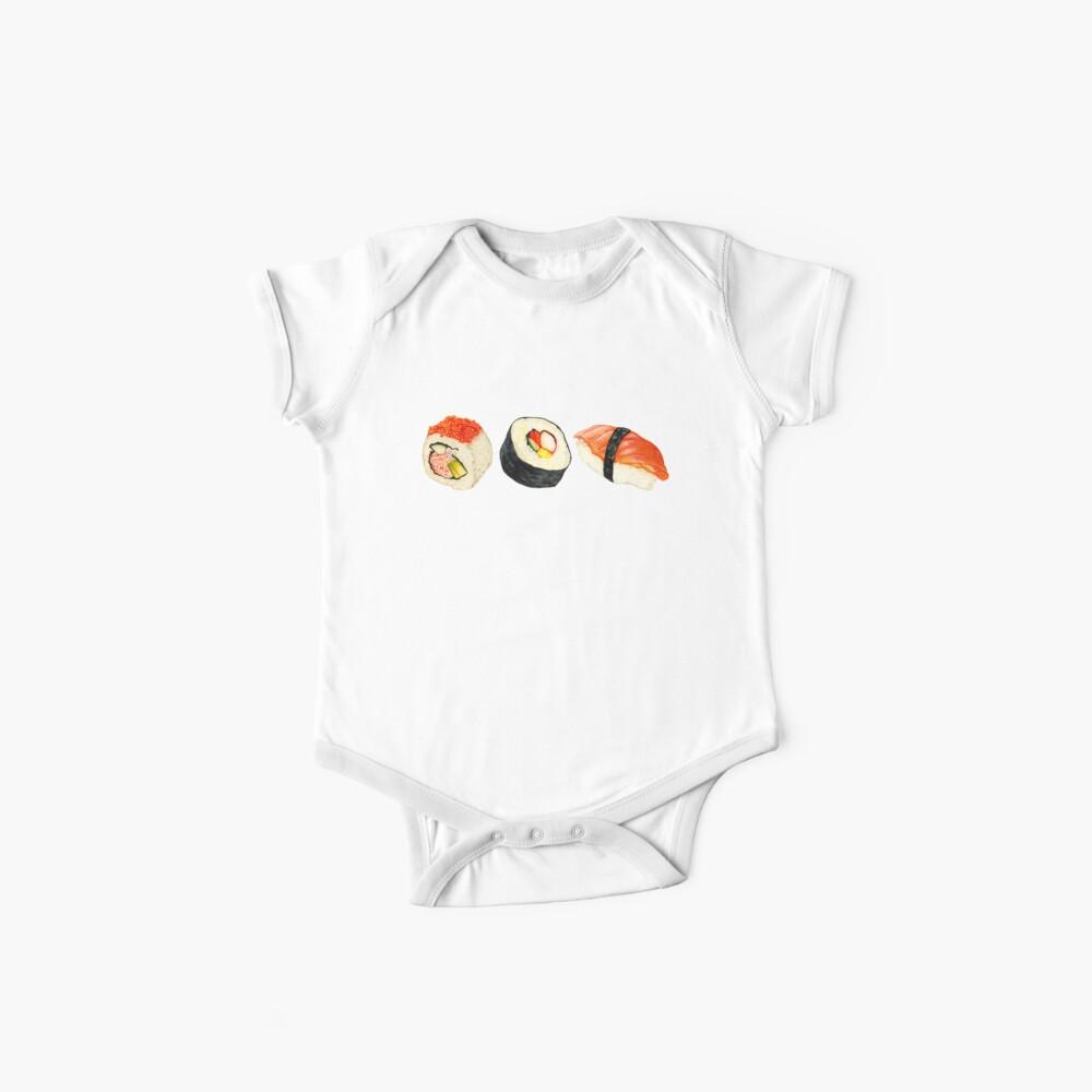 Sushi-Muster - Orange Baby Bodys