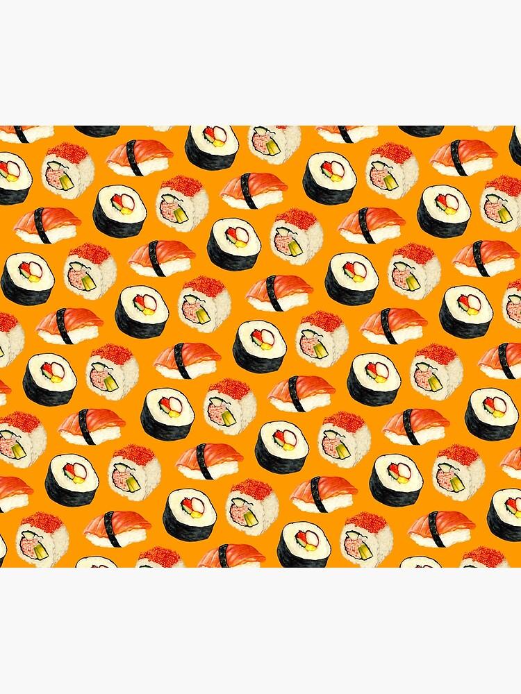 Sushi Pattern - Orange by KellyGilleran