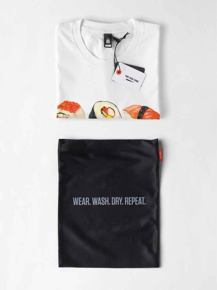 Alternate view of Sushi Pattern - Orange Premium T-Shirt