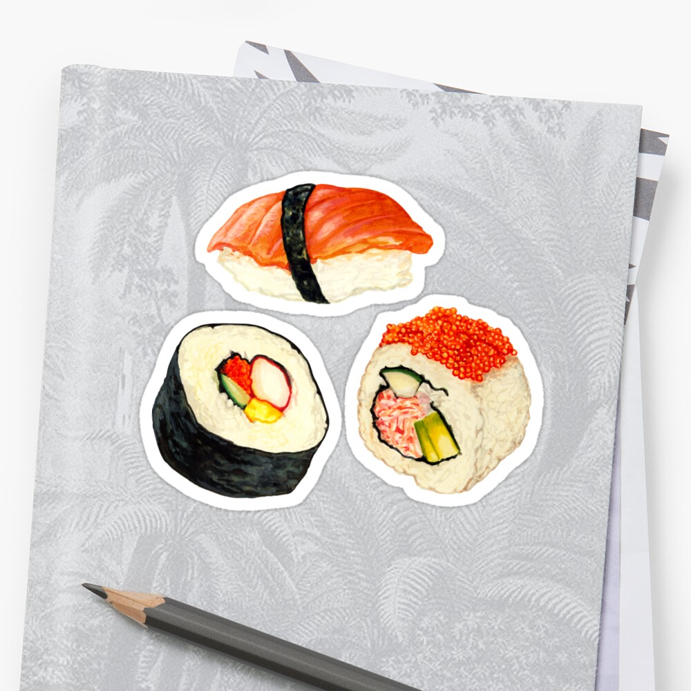 Sushi Pattern - Orange Sticker