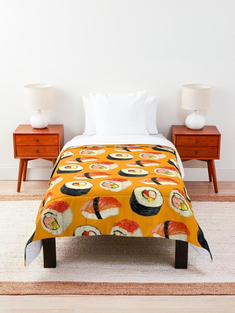 Alternate view of Sushi Pattern - Orange Comforter