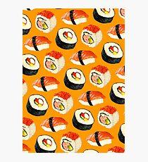 Sushi Pattern - Orange Photographic Print