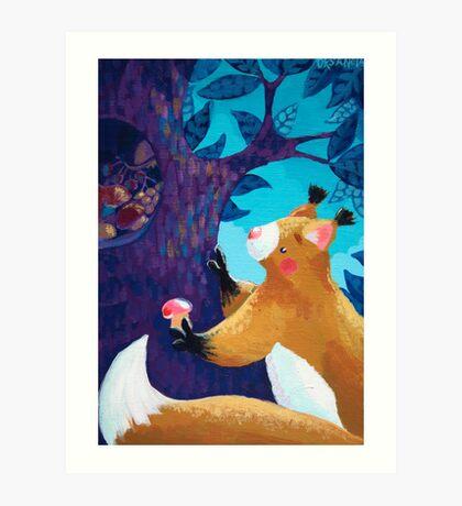 Thrifty Squirrel Art Print