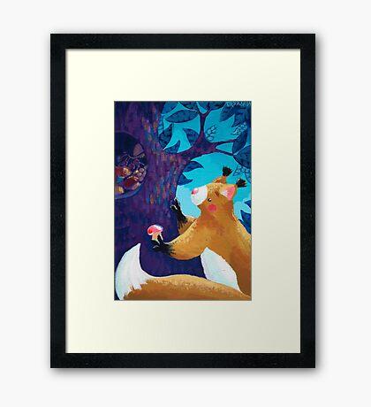 Thrifty Squirrel Framed Print