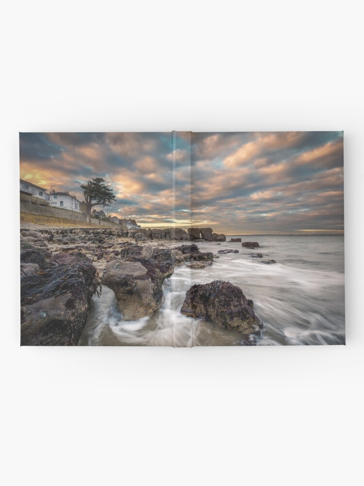 Alternate view of Rocky Beach Sunset At Seaview Isle Of Wight Hardcover Journal