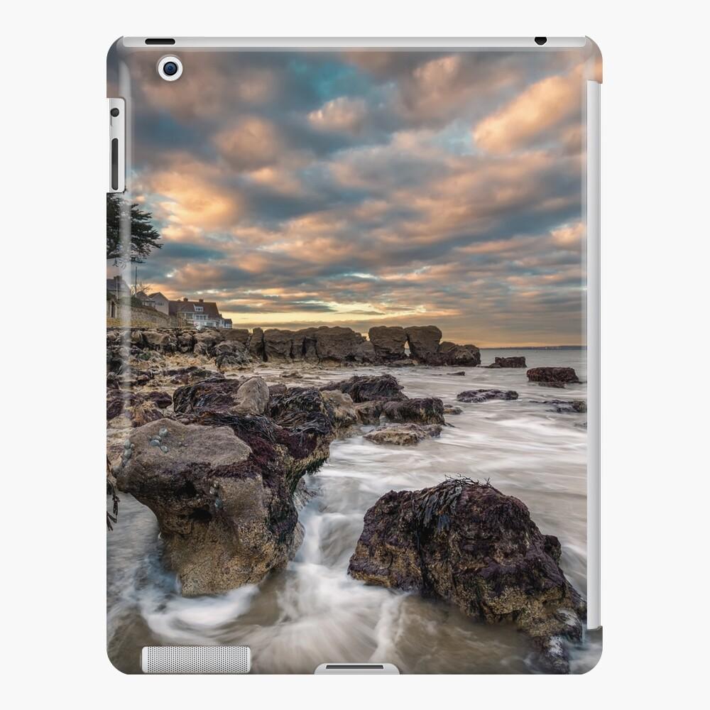 Rocky Beach Sunset At Seaview Isle Of Wight iPad Case & Skin