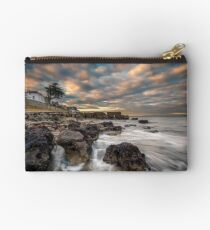 Rocky Beach Sunset At Seaview Isle Of Wight Studio Pouch