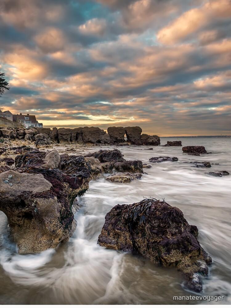 Rocky Beach Sunset At Seaview Isle Of Wight by manateevoyager