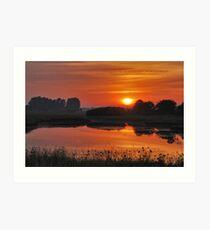 July sunrise near Renesse Art Print