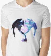 Dragon Heart Toothless and Light Fury V-Neck T-Shirt