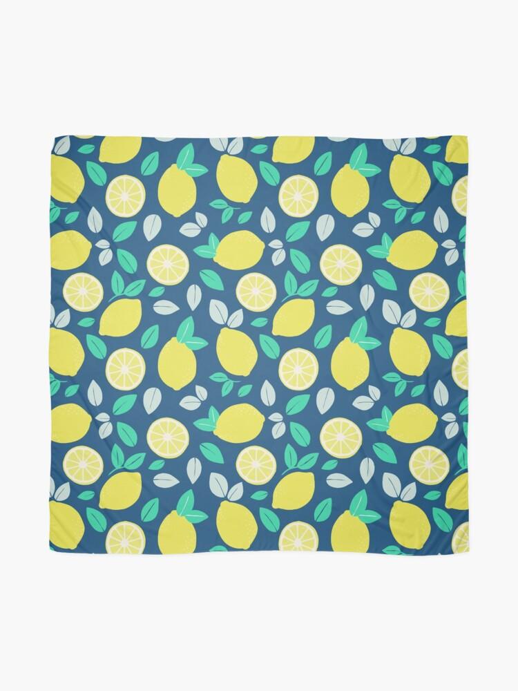Alternate view of Summer Lemon Pattern in Navy Blue Scarf